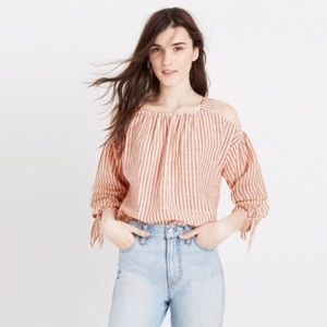 Flirty Madewell Cold Shoulder Woven Top